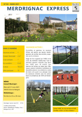 Magazine mensuel Merdrignac Express Mars 2021
